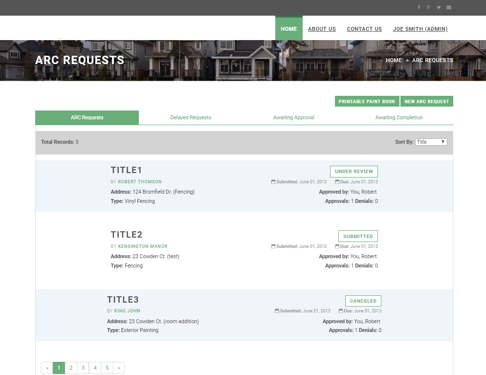 Real Estate Web App for Architectural Review Requests - AppYug
